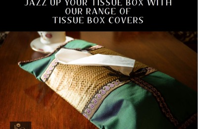 Decorative tissue box cover